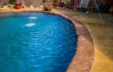 Concrete Custom Pool with Deck Jets